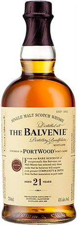 Balvenie Scotch Single Malt Portwood Finish 21 Year